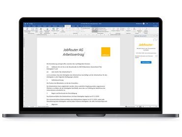 microsoft office word JobRouter integration