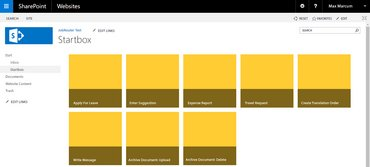 JobShare Module - JobRouter process Startboxes in SharePoint dashboard